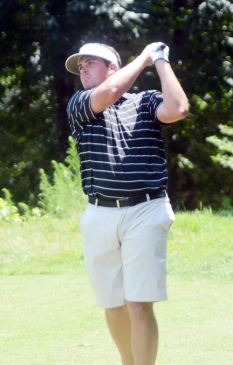 Bryan Newton had the second round lead, but fell back into a tie for second in the final round.