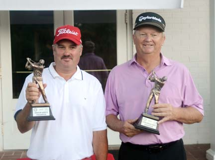 Bennett Cox (left) and Mike Ridgeway (right) won titles at the Spartanburg County Senior Championship.