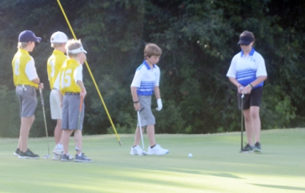 Carolina Springs golfers matched up with Greenville Country Club golfers.