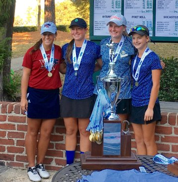 The top finishers in the AAAAA state champions were, (l-r) Champion Jensen Castle, Gracyn Burgess 2nd, Anna Morgan 3rd and Baylee Evans 4th.