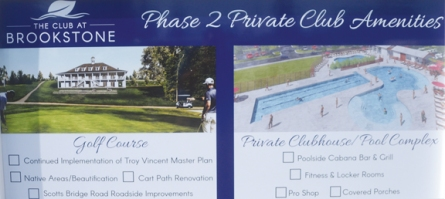 The rendering of the new clubhouse and pool show the amenities that will be available to members in about a year.