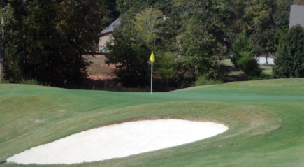 Brookstone replaced its old greens with new Tiff Eagle putting surfaces. The nines were also reversed.