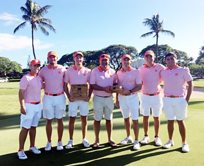 Clemson won their second tournament of the fall season with a victory in Hawaii.