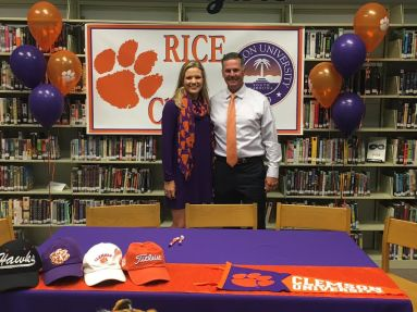 Callista Rice is from Mars Hill and will join the Clemson team in the fall. She has worked with noted instructor Kevin Britt.