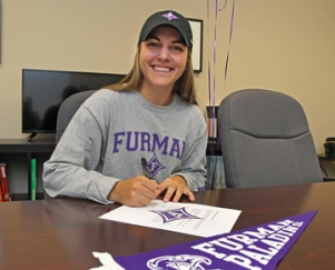 Madison Moosa from Charlotte signed with Furman. She won the 2016 Junior Heritage.