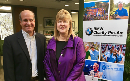 BMW Tournament President Bob Nitto welcomes the Furman Golf Course to the tournament and the University President Elizabeth Davis.